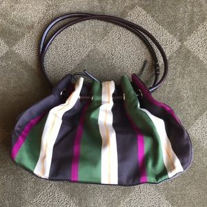 Kate Spade satin striped brown leather purse
